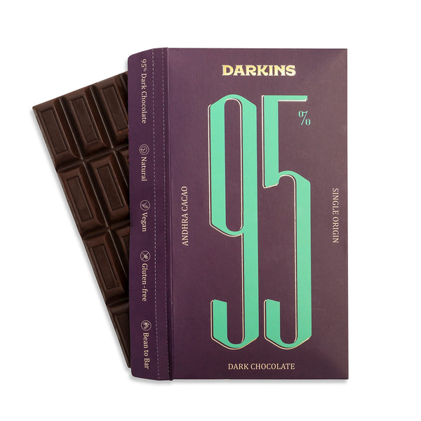 Darkins 95% Single Origin Dark Chocolate - Andhra
