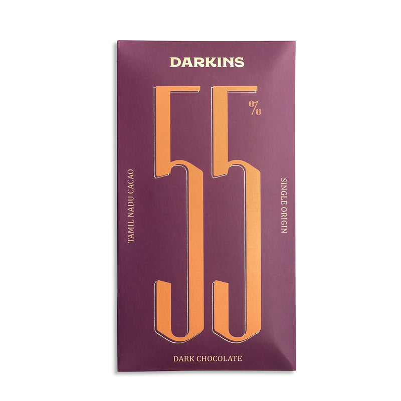 Darkins 55% Single Origin Dark Chocolate - Tamil Nadu