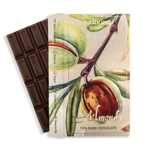 Darkins 70% Dark Chocolate with Almonds