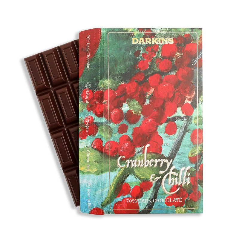 Darkins 70% Dark Chocolate with Cranberry & Chilli