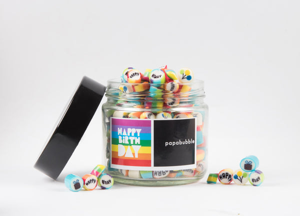 Papabubble Happy Birthday Candy Jar