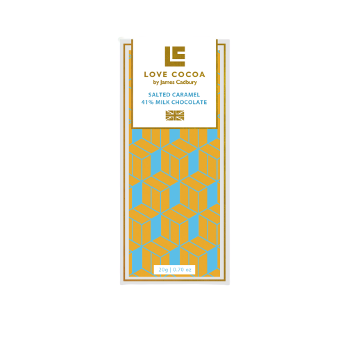 Love Cocoa Salted Caramel 41% Milk Chocolate (20g)