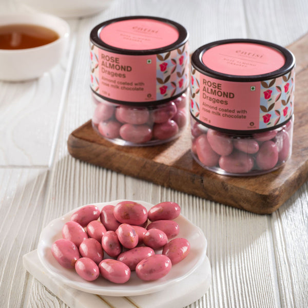 Entisi Rose Almond Dragees Jar