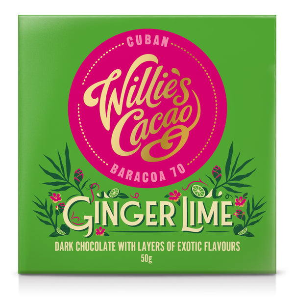 Willie's Cacao GINGER & LIME Dark Chocolate