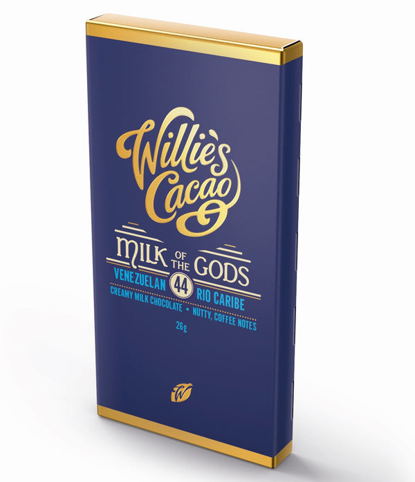 Willie's Cacao MILK OF THE GODS 44% Milk Chocolate (26g)