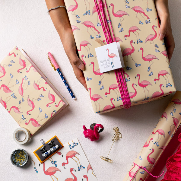The Flamingo Sneaker Gift Wrapping Paper