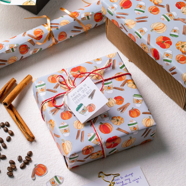 Pumpkin, Spice & All Things Nice Gift Wrapping Paper