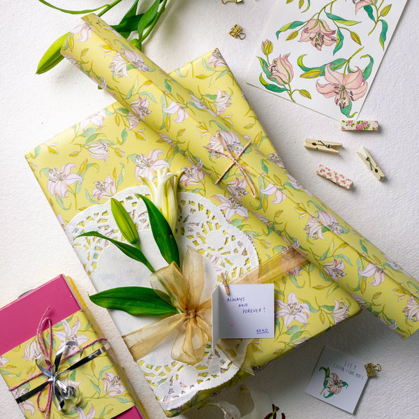I Really Lily Love You Gift Wrapping Paper