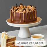Chocolate Cookie Crunch Cake with Sea Salt Caramel