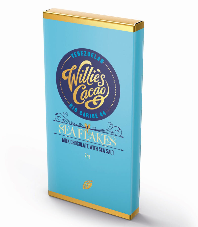 Willie's Cacao SEA FLAKES Milk Chocolate (26g)