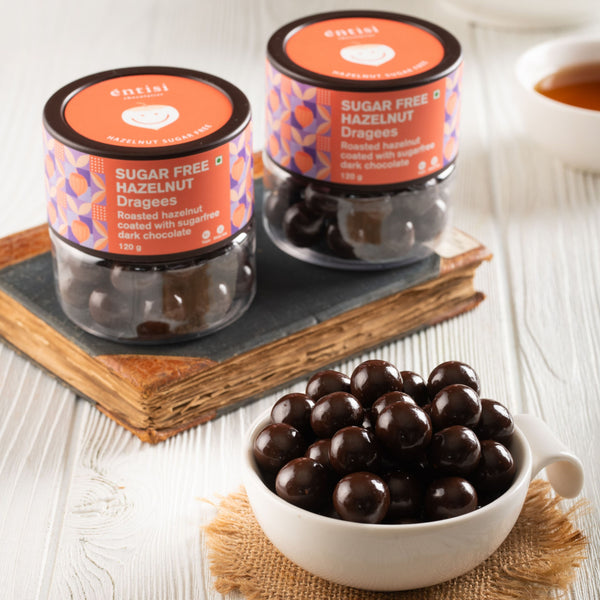 Entisi Sugarfree Hazelnut Dragees Jar