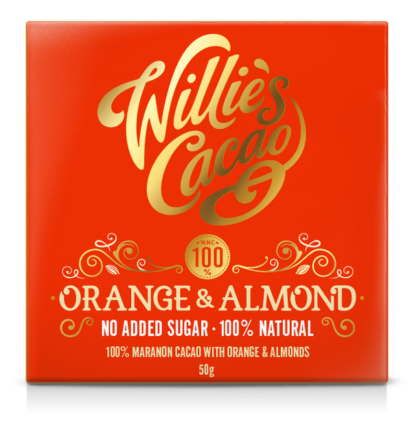 Willie's Cacao Orange & Almond 100% Cacao