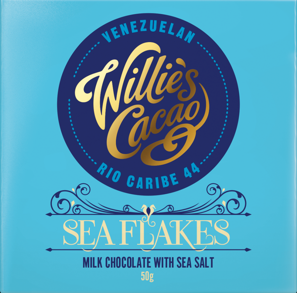 Willie's Cacao SEA FLAKES Milk Chocolate (50g)