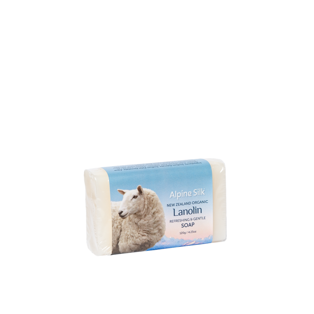 Alpine Silk Organic Lanolin Soap 120g