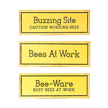 Load image into Gallery viewer, Metal Bee Signs