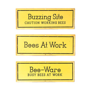 Metal Bee Signs