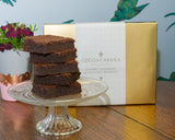 Handmade gourmet gluten free chocolate brownies