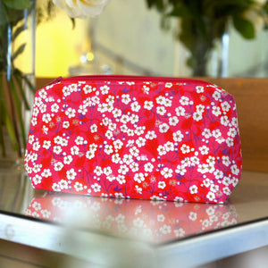 Liberty Print Fabric Mitsi Make Up Bag (Pink)