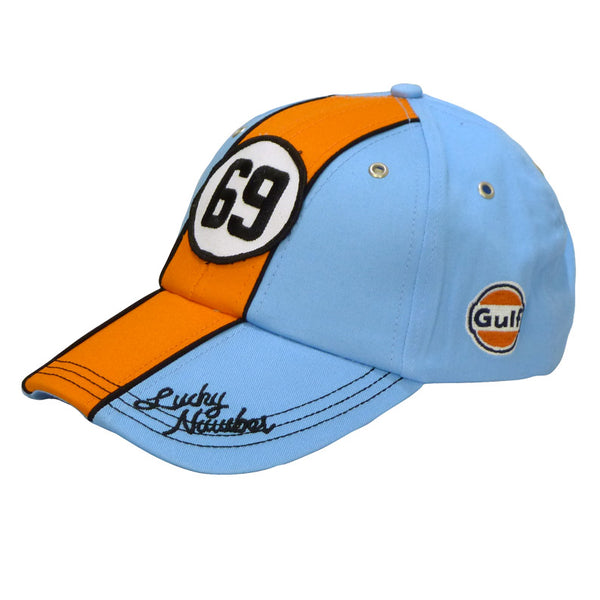 Cappellino Gulf Lucky Number 69 azzurro