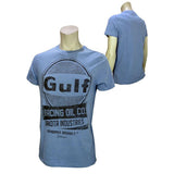 T-shirt GPO azzurra logo GULF racing oil