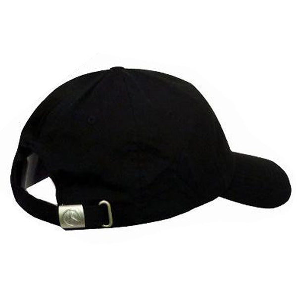 Large black Mercedes logo cap