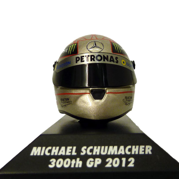 Casco replica Michael Schumacher 300° GP Spa 2012 scala 1/8