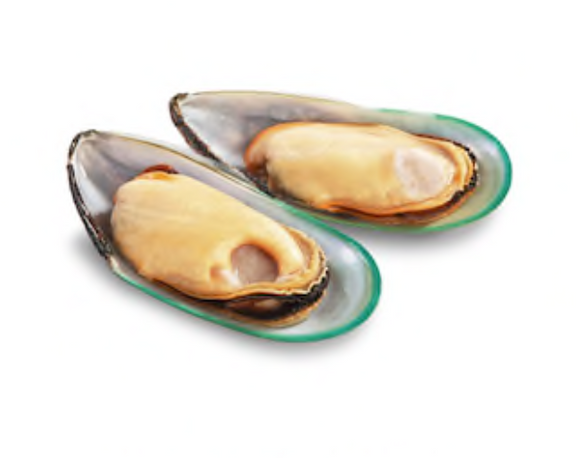 New Zealand Green Lip Mussels - 1/2 shell - 0.91 kg pack