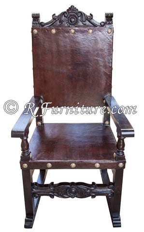 Spanish Friar Dining Leather Armchair