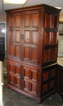 Santa Barbara Armoire, leather panels