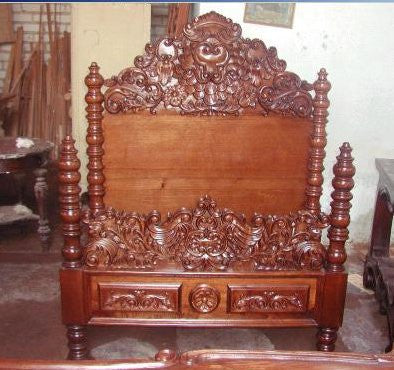 Renaissance Reproduction Bed - Spanish Colonial Bed