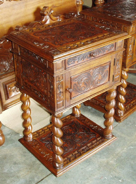 Bologna night stand hand tooled leather r furniture by for R furniture canoga park