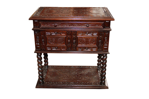 Hand Tooled Leather night stand - Made in Peru