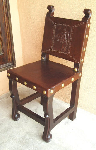 Spanish Colonial Kitchen Chair, Buckin Bronco
