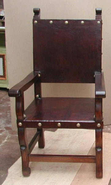 Spanish colonial armchair spanish colonial leather for Furniture in spanish