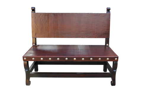 spanish colonial bench, hacienda bench