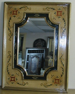 Handpainted mirror in Olinda Romani's colonial design made in Peru