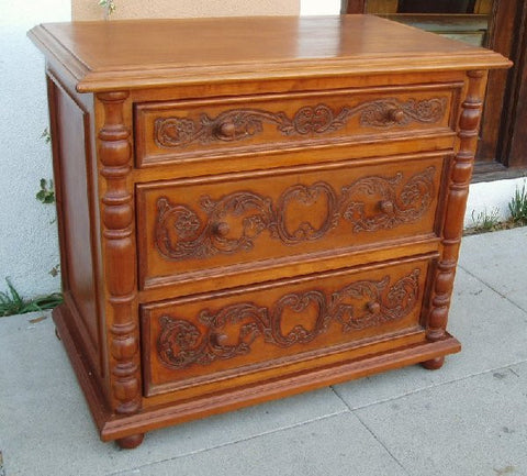 Old World Tuscan Nightstand