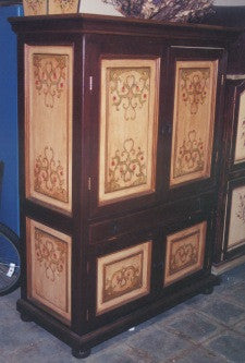 French Scroll Computer Armoire