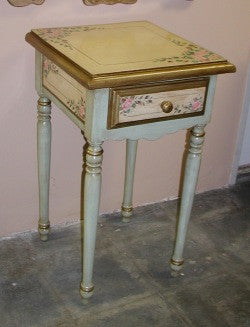 End Table Pink Roses