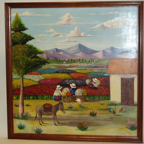 cusco sacred valley hand painted in Peru