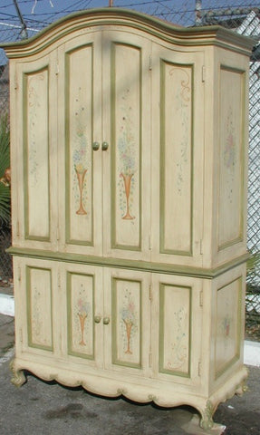 Floral Computer Armoire