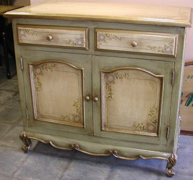 Handpainted buffet and Olinda Romani's Florentino design