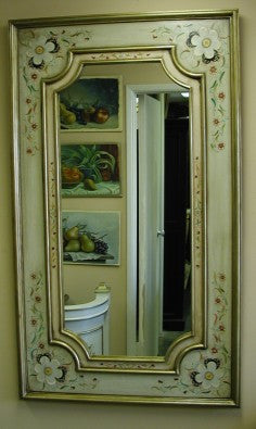 Handpainted French country mirror made in Peru
