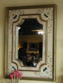 French country mirror hand painted in Peru
