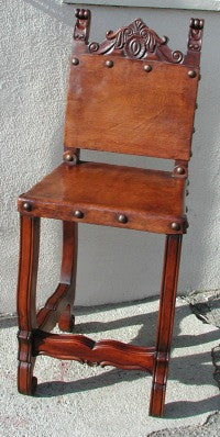 Friar Leather Bar Chair