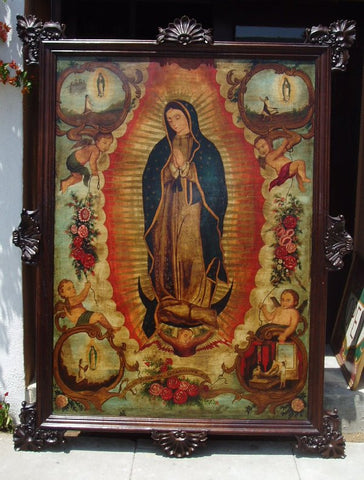 guadalupe painting made in peru