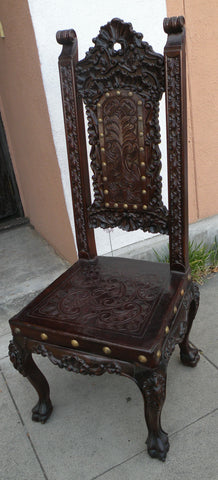 hand carved italian chair