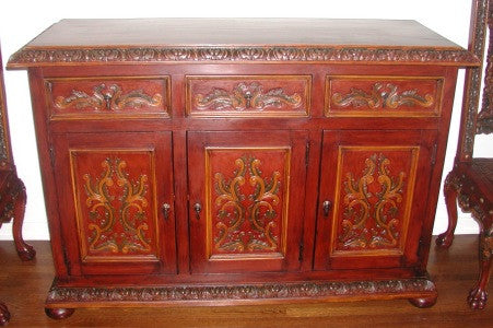 Isabellina Buffet with Polychrome finish
