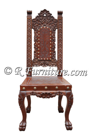 hand tooled leather chair