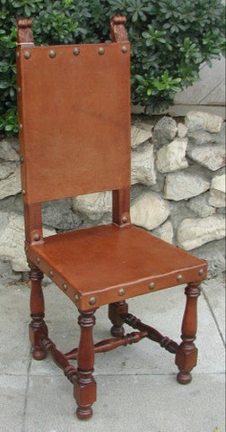 Italian Friar Dining Leather Side Chair